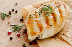 Grilled chicken breast with rosemary Royalty Free Stock Photography