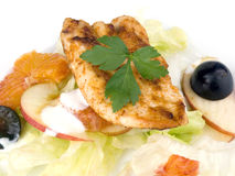 Grilled chicken breast with salad Stock Photos