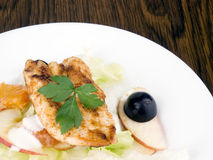Grilled chicken breast with salad Stock Image