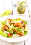 Grilled chicken breast salad Royalty Free Stock Image