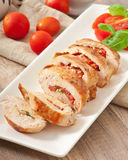Grilled chicken breast stuffed Stock Images