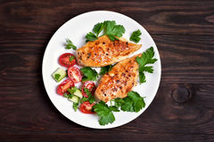 Grilled chicken breast Stock Images