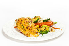 Grilled chicken breast with vegetables Royalty Free Stock Image