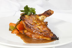 Grilled Chicken breast w wing Royalty Free Stock Photos