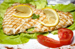 Grilled chicken breasts royalty free stock images