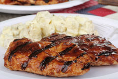 Grilled Chicken Breasts stock photography