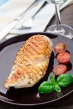 Grilled chicken breasts Stock Images