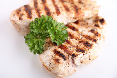 Grilled chicken breasts with fresh vegetables Royalty Free Stock Photo
