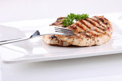Grilled chicken breasts with fresh vegetables Stock Image