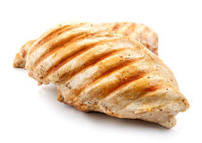Grilled chicken breasts. Isolated on white background Stock Photo