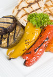 Grilled Chicken Breasts and Vegetables Stock Image