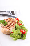 Grilled chicken breasts and vegetables Royalty Free Stock Photos