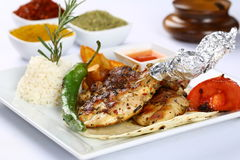 Grilled Chicken Chops royalty free stock photo