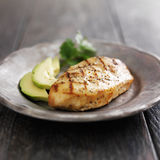 Grilled chicken with cilantro and avocado Royalty Free Stock Photography