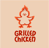 Grilled chicken. Company logo Stock Images