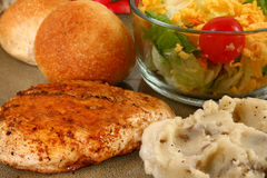 Grilled Chicken Dinner Royalty Free Stock Photography