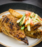 Grilled chicken dinner plate Royalty Free Stock Image