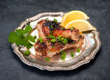 Grilled chicken drumsticks Royalty Free Stock Image