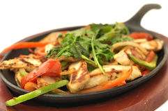 Grilled chicken fajitas Stock Image
