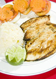 Grilled chicken filet central america Royalty Free Stock Photography