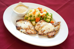 Grilled Chicken Filet, lebanese food. Royalty Free Stock Photos