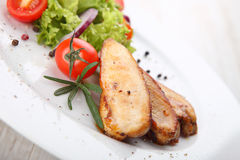 Grilled chicken filet Stock Photos