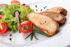 Grilled chicken filet Stock Images