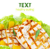 Grilled chicken fillet Stock Photography