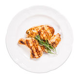 Grilled Chicken Fillet And Legs With Rosemary. Royalty Free Stock Photo