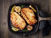 Grilled chicken fillet Royalty Free Stock Images