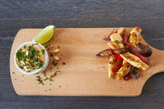 Grilled chicken fillet and roasted vegetables Royalty Free Stock Image