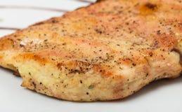 Grilled chicken fillet. Stock Images
