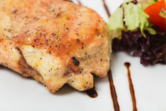Grilled chicken fillet. Stock Photo