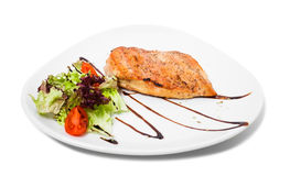 Grilled chicken fillet. Stock Photos