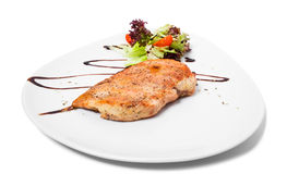 Grilled chicken fillet. Royalty Free Stock Photography
