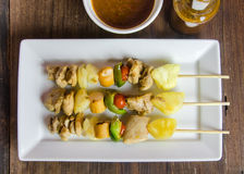 Grilled chicken fillet and vegetables whit barbecue sauce Royalty Free Stock Images