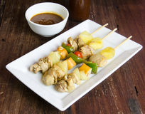 Grilled chicken fillet and vegetables whit barbecue sauce Stock Photos