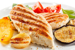 Grilled chicken fillets Royalty Free Stock Photo