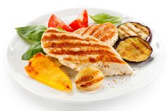 Grilled chicken fillets Stock Image