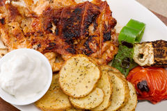 Grilled chicken fillets closeup Stock Image