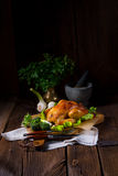 Grilled chicken. A fresh and tasty grilled chicken stock photos