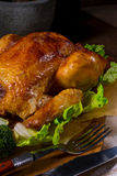 Grilled chicken. A fresh and tasty grilled chicken royalty free stock image