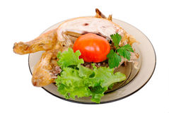 Grilled chicken with fresh vegetables Stock Photos