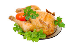 Grilled chicken with fresh vegetables Royalty Free Stock Image