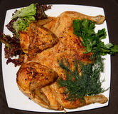 Grilled chicken fried tobacco carcass Stock Image