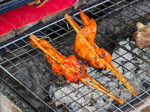 Grilled chicken grill Stock Image