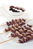 Grilled chicken hearts Stock Photography