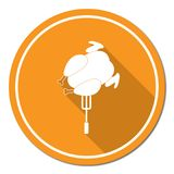 Grilled chicken icon Stock Photo