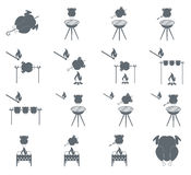 Grilled chicken icon. S set. Vector illustration Royalty Free Stock Photography