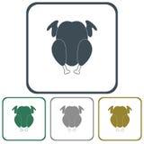 Grilled chicken icon. Vector illustration stock illustration